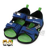 日本月星 MoonStar 藍/綠 MSCN 涼鞋 中童鞋 NO.Y1555