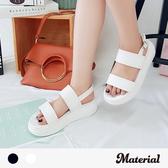 涼鞋 雙橫帶厚底涼鞋 MA女鞋 T0266
