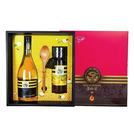 【復刻經典】極品臻藏醋蜜禮盒-金鐉蜂蜜425g(1瓶)+蜂蜜醋600ml(1瓶)【養蜂人家】