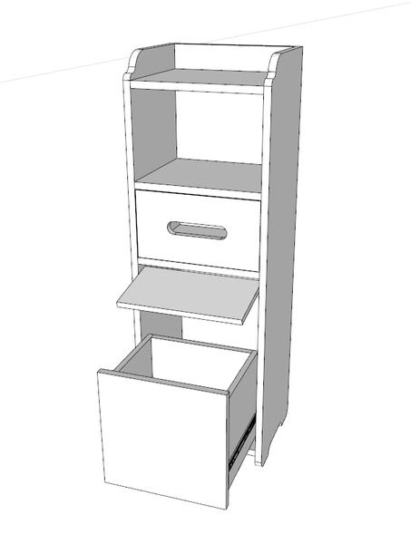 【麗室衛浴】發泡板可移動儲物櫃 浴室小空間置物櫃 防潮落地收納櫃 LS-022