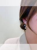 韓國代購水晶流蘇耳墜網紅小眾輕奢水鉆珍珠耳環高級感耳飾新款潮 快速出貨