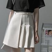 春夏半身裙新款裙子女ins超仙顯瘦百褶裙高腰a字裙不規則短裙