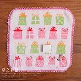【京之物語】LAURA ASHLEY聖誕節禮物小熊粉色邊框方巾