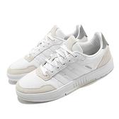 adidas 休閒鞋 Courtmaster 白 灰 男鞋 基本款 麂皮 運動鞋 【ACS】 FV8106