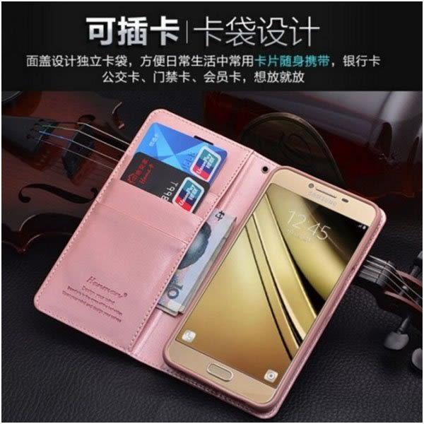愛尚小羊皮 三星 Galaxy Note8 手機皮套 自動吸附 支架插卡 附掛繩 三星 N9500 全包邊 錢包皮套