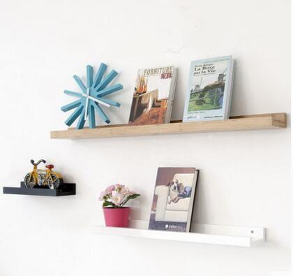 牆上電視牆置物架客廳一字隔板書架背景牆裝潢架擱板壁掛架套餐組合