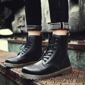 新款冬季男士英倫休閒皮鞋韓版潮流高幫百搭男鞋精神小伙鞋子伊莎公主