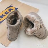 防滑保暖雪地靴 女加絨短筒短靴2019冬季新款學生時尚百搭韓版棉靴 BT14405【彩虹之家】