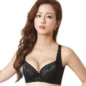 思薇爾-挺享塑系列B-G罩蕾絲包覆背心型塑身內衣(黑色)