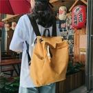 後背包 韓版女大學生大容量書包2020新款簡約水洗帆布雙肩包旅行背包男包 小天後