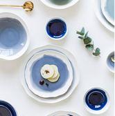 日式陶瓷餐具家用不規則菜盤大湯碗骨盤平盤【步行者戶外生活館】