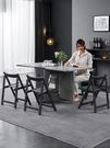摺疊餐桌小戶型家用現代簡約吃飯桌子北歐多功能可伸縮超薄餐桌椅 夢幻小鎮
