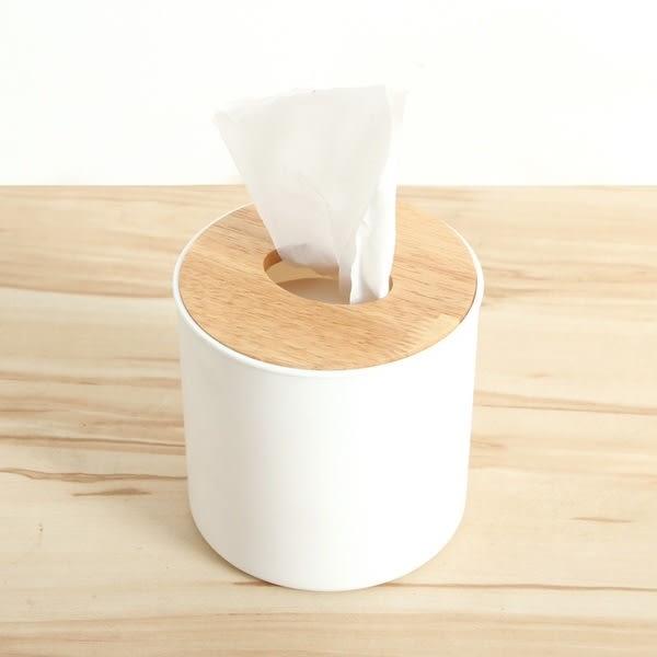 簡約 橡木蓋 圓筒 面紙盒 抽取式 面紙 餐巾紙 衛生紙 盒 收納 置物 居家 iphone【RS620】
