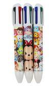 【卡漫城】 Tsum 四色 原子筆 三隻組 7mm ㊣版 米奇 三眼怪 史迪奇 巴斯 彩色墨水 藍筆 紅筆 綠筆