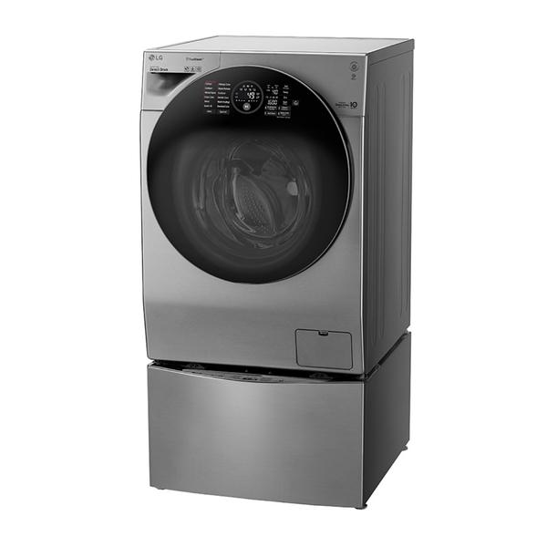 LG TWINWash 雙能洗極窄美型版(蒸洗脫烘) 星辰銀 / 12公斤+2公斤洗衣容量 WD-S12GV TWINWASH