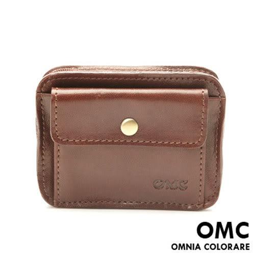 OMC - 原皮魅力真皮款可腰掛式隨身小包