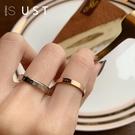 情侶戒指 男女鈦鋼食指戒指冷淡風簡約小眾設計學生情侶飾品個性時尚ins潮
