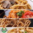 鐵板麵綜合組(黑胡椒、蘑菇、茄汁、大阪炒麵各一入)