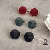 太陽鏡 原宿風墨鏡女復古金屬圓框圓臉網紅同款時尚墨鏡潮 交換禮物