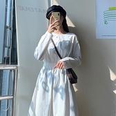 2020年秋裝新款內搭洋裝女春秋長袖秋冬白色長款裙子長裙輕熟風 【雙十一狂歡購】