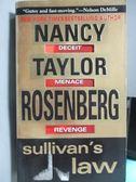 【書寶二手書T8/原文小說_ODK】Sullivan s Law_Nancy Taylor Rosenberg