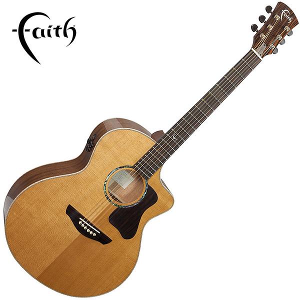 Faith FG1NC 頂級西特卡雲杉木全單板 41吋民謠吉他-缺角造型/ 英國名品/ 附原廠琴盒