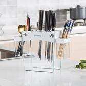 COOWELL刀架廚房置物架放菜刀具收納盒架子刀座多功能廚房家用品YYS 七夕禮物