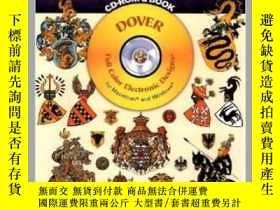 二手書博民逛書店Full-Color罕見Heraldic Designs CD-