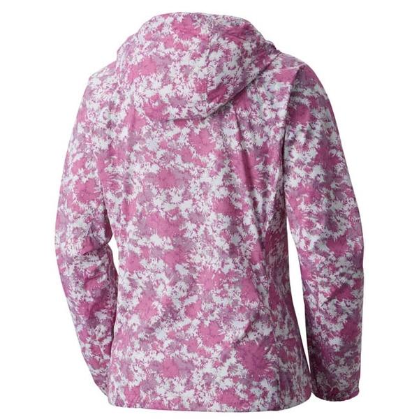 Columbia 女 連帽風衣外套 紫色花紋 URR30710UNCS【GO WILD】