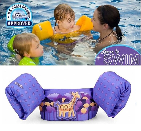 兒童泳衣 浮力夾克 美國學習式救生浮力衣Puddle Jumpe 長頸鹿 豪華版 體重:14-23公斤 2-6歲