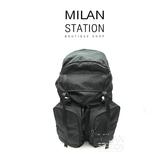 【台中米蘭站】PRADA 黑 尼龍 降落傘布 雙口袋 後背包.登山包.大款