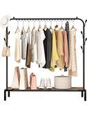 曬衣架簡易晾衣架落地臥室掛衣架單桿式折疊曬衣架室內涼衣芊惠衣屋igo