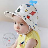 帽子 漁夫帽 嬰兒 太陽帽 寶寶 盆帽 飛機帽 BW