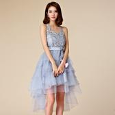 露肩綁脖蕾絲網紗公主裙宴會表演晚禮服~小禮服~美之札