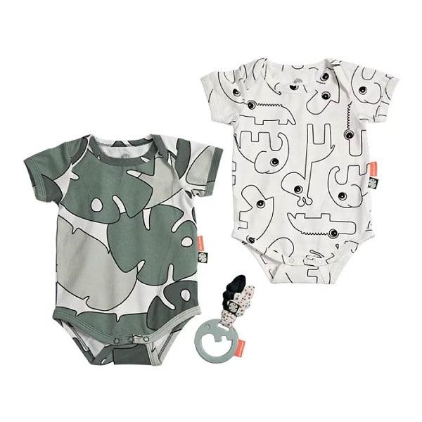 丹麥 DONE BY DEER 新生兒包屁衣禮盒-小小熱帶雨林|初生禮|禮盒