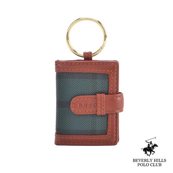 B.H POLO.比華利保羅-綠格相片窗釦式鑰匙包 BH-2054