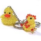 黃色鴨子與小雞串珠包包掛飾鑰匙圈...