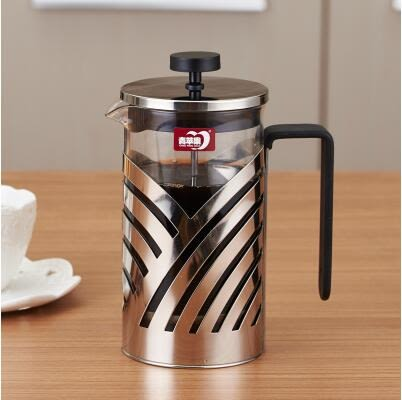 法式濾壓壺 - 不銹鋼手沖咖啡壺家用法式濾壓壺咖啡過濾杯耐熱沖茶器【店慶狂歡八折搶購】