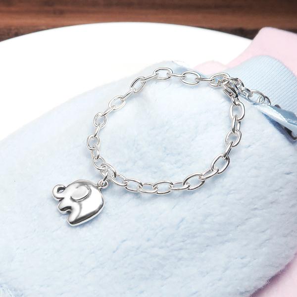 小象寶寶 親子兒童手鍊(寬版) 925純銀客製化刻字手鍊 嬰幼兒彌月禮 親子銀飾
