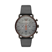 【Emporio Armani】美式經典工業風兩眼時尚腕錶-工業灰/AR11168/台灣總代理公司貨享兩年保固