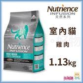 Nutrience紐崔斯『 INFUSION天然室內貓 (雞肉)』1.13kg【搭嘴購】