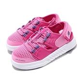 New Balance 涼拖鞋 ITTRKLC1 W Wide 寬楦 粉紅 藍 童鞋 小童鞋 魔鬼氈 涼鞋【ACS】 ITTRKLC1W