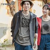 【西班牙TERNUA】男Shelltec防水連帽外套1643169 / 城市綠洲(輕量、透氣、快乾)