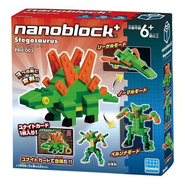 【日本KAWADA河田】Nanoblock迷你積木-劍龍 PBH-005