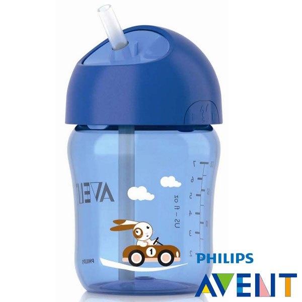 Philips Avent 新安怡 QQ兔吸管水杯260ml(吸管式 )(二色可挑) 199元(藍1 粉2)