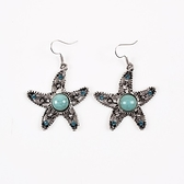 綠松石耳環-時尚精美鏤空星星女耳飾73ns41【時尚巴黎】