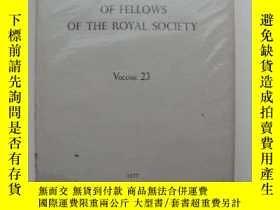 二手書博民逛書店Biographical罕見Memoirs of Fellows