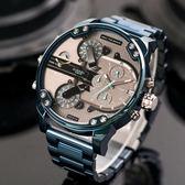 DIESEL Mr Daddy 2 灰藍時尚造型設計個性腕錶 DZ7414 熱賣中!