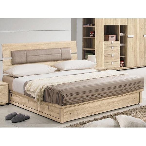 床架 QW-045-2A 多莉絲5尺皮面雙人床 (床頭+床底)(不含床墊) 【大眾家居舘】