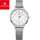 JULIUS 聚利時 星夜之謎不鏽鋼米蘭錶帶腕錶-經典銀/30mm 【JA-1060A】